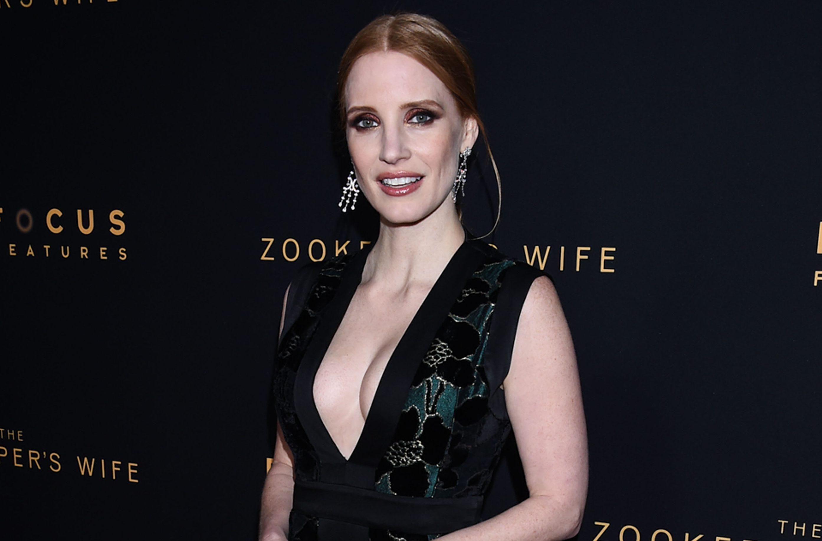 "Jessica comparece à premiere de ""The Zookeeper's Wife"" em Los Angeles"