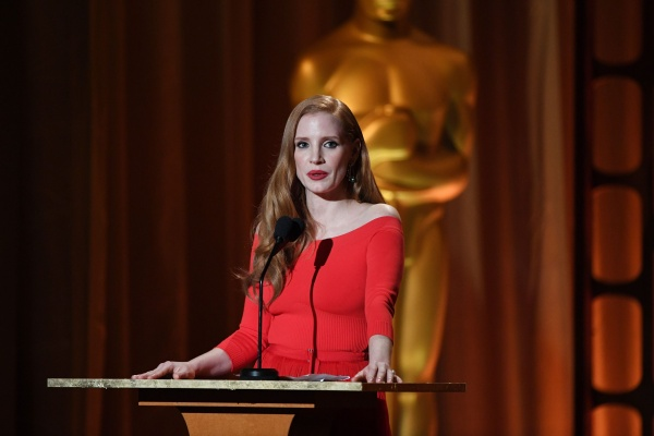 Jessica compareceu ao Academy of Motion Picture Arts and Sciences' 9th Annual Governors Awards